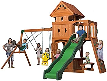 Monterey All Cedar Wood Playset Swing Set