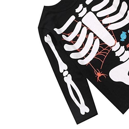 Little Fancy Halloween Unisex Boys' Kids Skeleton Costume Outfit Pants Set (7T) by Little Fancy (Image #4)