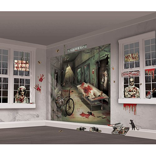 Asylum Scene Setters | Mega Value | Halloween Wall Decorating Kit -
