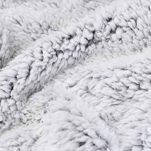Invierno Gris caliente con mujer Outwear Chaleco de piel abrigo Chaqueta Internet cremallera sintética para Escudo informal Sherpa x6ywnXa1n