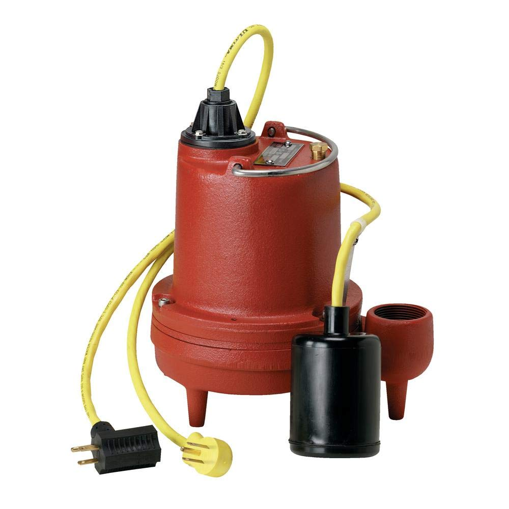 4//10 HP 1-1//2 Submersible Sump Pump 115V Tether