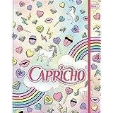 Tilibra 15391, Fichário Cartonado, Capricho, 80 Folhas com Elástico, Multicolor