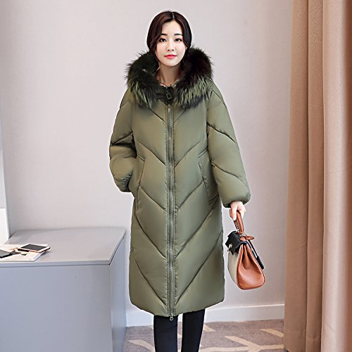 Dress Sau Xuanku Code ArmyGreen Jacket Women And Feather Cotton Long Thickening Cotton Coat The Cotton qwwxIpz8