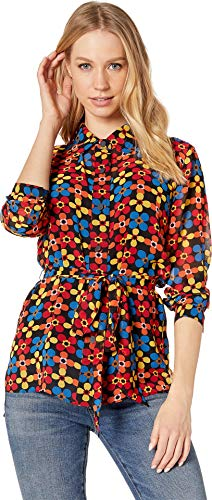 Juicy Couture Women's Blocked Floral Shirt Pitch Black/Blocked Petite/X-Small