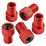 Chartsea 5PC Anodized Machined Aluminum Alloy Bicycle Bike Tire Valve Caps Dust Covers French Style Presta Valve Cap (Red)