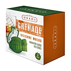 Skaxi 3D Grenade Silicone Mold (Set of 2), Large I