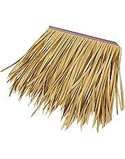 Palm Thatch Simulation thatch Simulation Thatch Tile Simulation Thatch Tile Roof Simulation Thatch 50x50cm/pcs Plastic Fur Grass Large Carpet Paste Thatch,Size:1pcs (Color : Yellow d, Size : 2pcs)