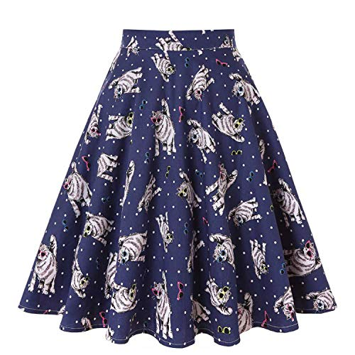 Skirts Womens High Waist Cotton Swing Women Skirt