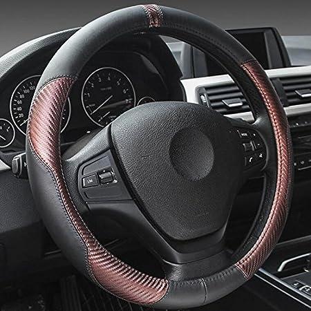 Xuanmax Universal Sport Echtleder Lenkradbezug Elektronik