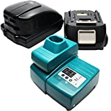 2 Replacement Makita BDA350 Battery, 1 Charger & 1 USB Power Source - For Makita 18V Lithium-Ion Power Tool Battery (1500mAh, Lithium-Ion)