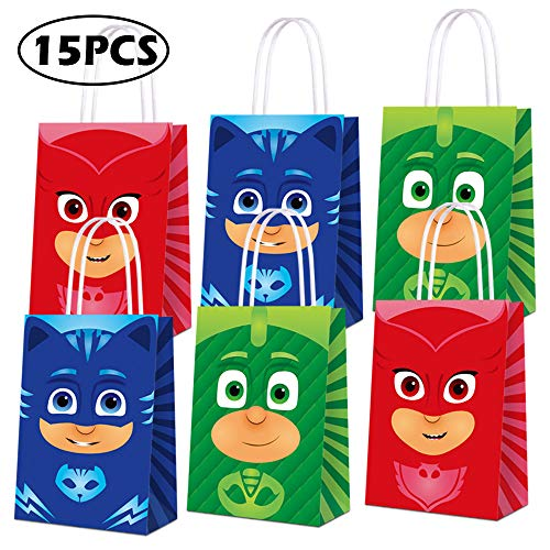 Mask Party Favors (Party Favor Bags for PJ Masks Party Supplies, Party Gift Goody Treat Candy Bags for PJ Masks Party Favors Birthday Party Decor for PJ Masks Party Girls Kids Birthday Decorations)