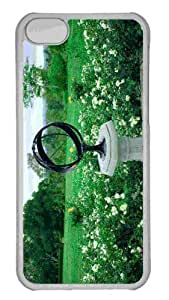 Customized iphone 5C PC Transparent Case - Sundial Personalized Cover