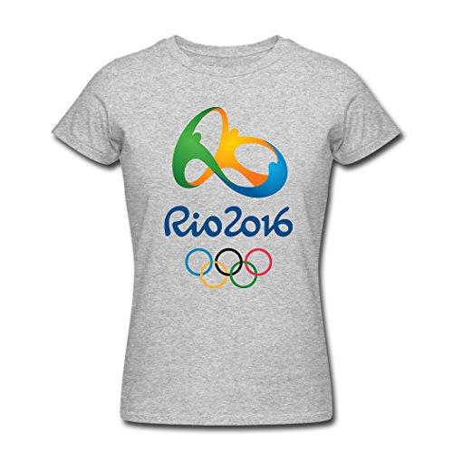 Catsmini 2016 Summer Olympics logo Women's Funny T-Shirts X-Large
