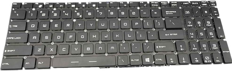 fqparts Teclado portátil para MSI GL65 Negro Versión ...
