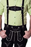 Lederhosen Leather Shorts Oktoberfest Trachten Bavarian Black Size 46