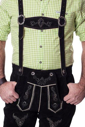 Lederhosen Leather Shorts Oktoberfest Trachten Bavarian Black Size 50 by Dirndl
