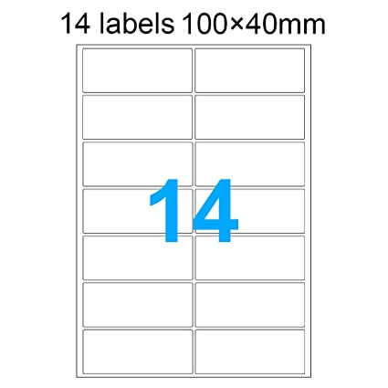 100 pieza daskoo 14 etiquetas (100 mm x 40 mm) A4 ...