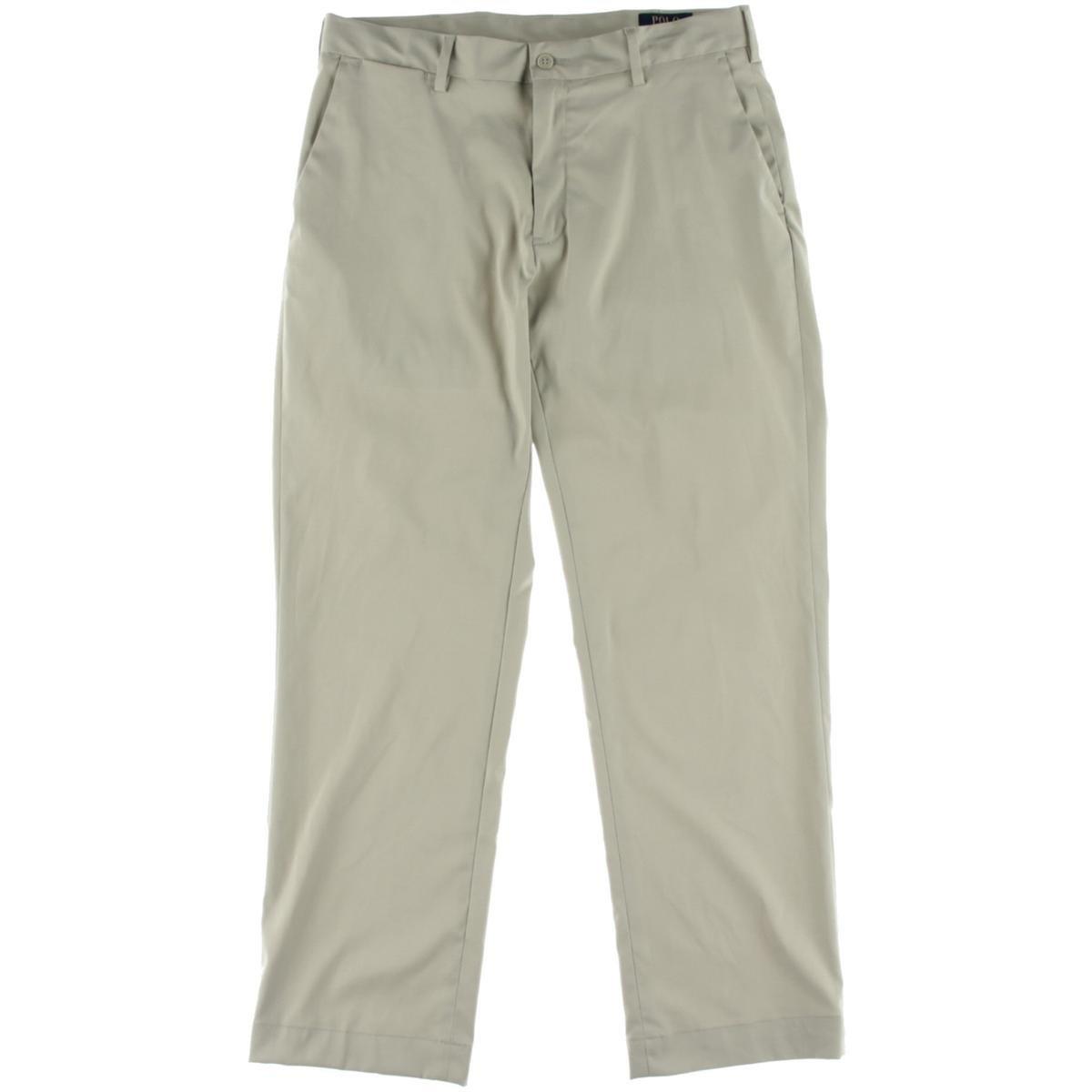 Polo Ralph Lauren Mens Classic Fit Performance Bootcut Pants Beige 34/30