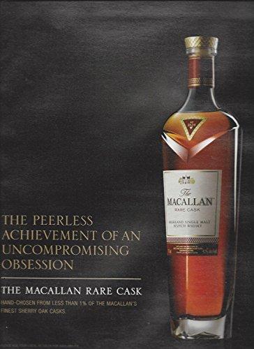 **PRINT AD** For 2015 Macallan Rare Cask Scotch: The Peerless Achievement - Macallan Cask