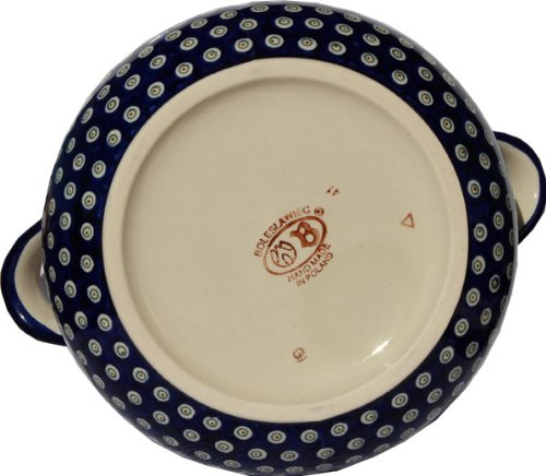Polish Pottery Soup Tureen From Zaklady Ceramiczne Boleslawiec 1004-166a Floral Peacock Pattern, 13.4 Cups by Polish Pottery Market (Image #2)