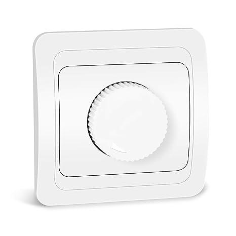 Kefflum Atenuador del Regulador de Brillo del Dimmer Rotativo LED para Lámparas LED y Todas las