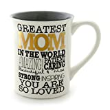 "Enesco Our Name is Mud by Lorrie Veasey Greatest Mom Mug, 4.5"", Multicolor"