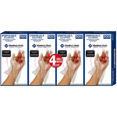 Member's Mark Plastic Disposable Gloves 2,000 ct. by Unknown