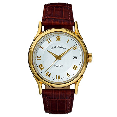 Revue Thommen Men's 20002-2512 Wallstreet Tradition Analog Display Swiss Automatic Brown Watch
