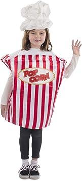 Dress Up America Popcorn Movie Night Costume For Kids Disfraces , Multicolor (Multi)  , One Size Unisex Adulto: Amazon.es: Ropa y accesorios