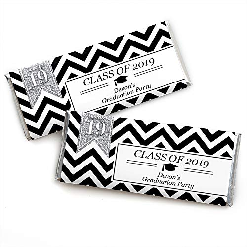 Custom Tassel Worth The Hassle - Silver - Personalized 2019 Graduation Party Favors Candy Bar Wrappers - Set of 24
