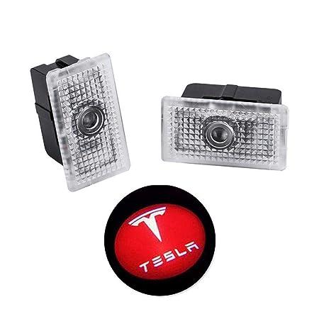 Hamkaw Tesla Modelo 3/X/S iluminación LED para Puerta de ...