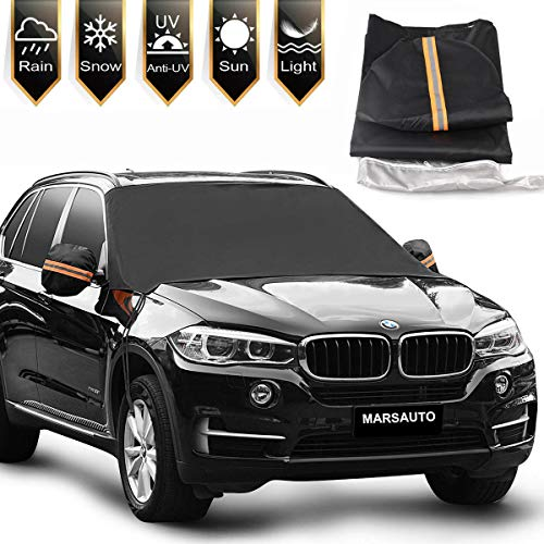 Magnet Car Windshield Snow Cover, Magnetic Snow, Ice and Frost Guard for Vehicle Window, Waterproof Windshield Protector for Most Car, SUV, Truck, Van with 85