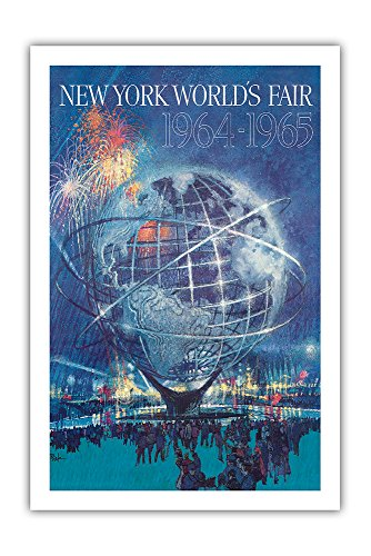 New York World's Fair 1964-1965 - Unisphere Earth Model - Vintage World Travel Poster by Bob Peak c.1964 - Premium 290gsm Giclée Art Print - 24in x 36in (1964 Poster Print)