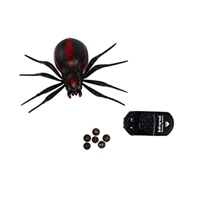 Giveme5 Realistic Fake Spider Scary Toy Remote Control RC Prank Christmas Holiday Gift Model: Toys & Games [5Bkhe0503988]