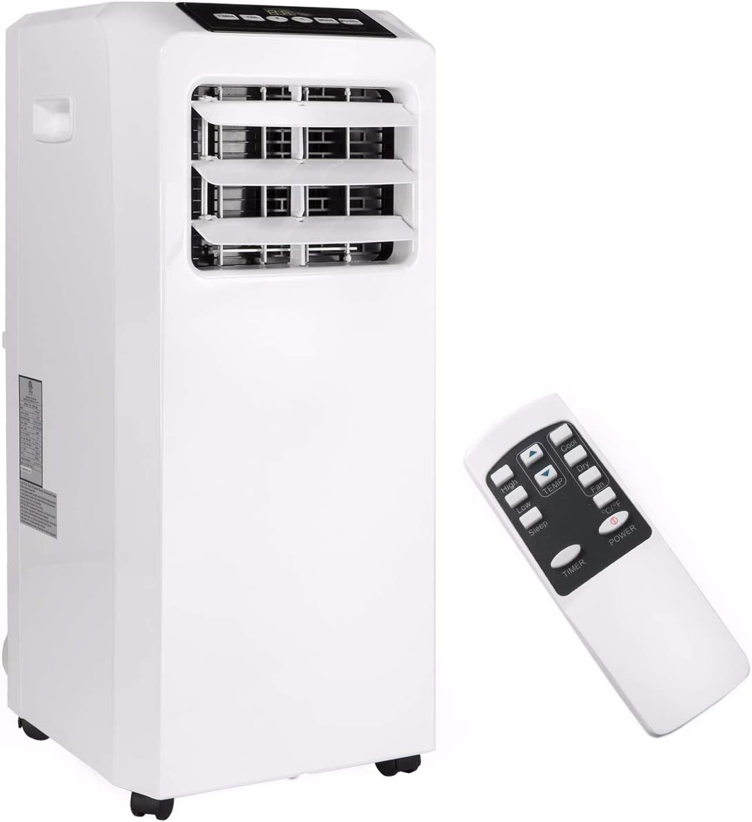 Barton 8,000 BTU 4in1 Portable Air Conditioner Dehumidifier Fan A/C Cooling for Rooms up to 250 Sq. ft with Remote Control Kit