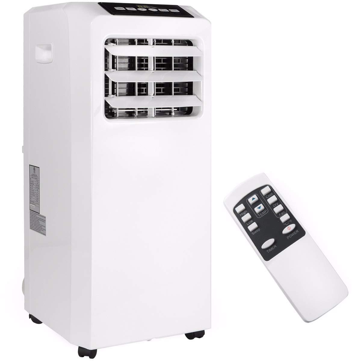 Ensue 8,000 BTU 4in1 Portable Air Conditioner Dehumidifier Fan A/C Cooling for Rooms up to 250 Sq. ft with Remote Control Kit