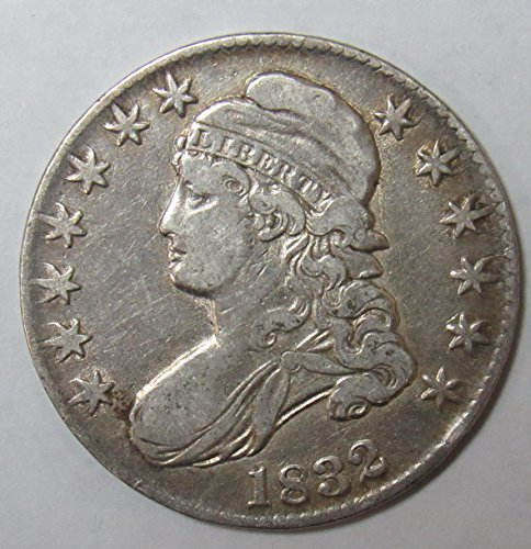 1832 Capped Bust Half Dollar Large Letters 50c Very Fine Details O-101a R.1 - 1832 Half Dollar