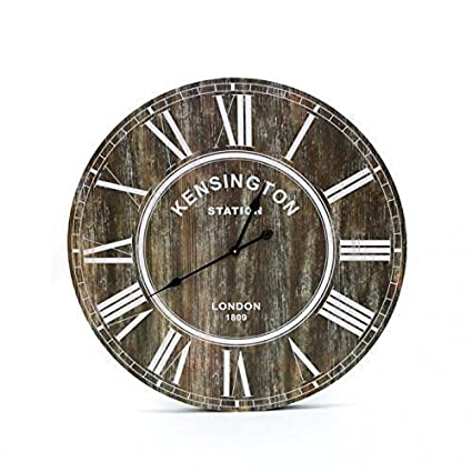 Reloj De Pared XXL 80 cm Vintage Rústico London Madera Grande pared Inglaterra Redondo Retro +