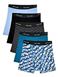 Fruit of the Loom Boys' Boxer Brief, Exposed and Covered Waistband, Sport Print-Assorted (Pack of 5), Large