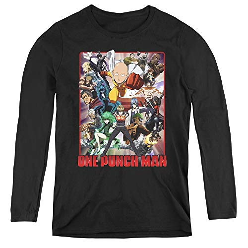 One Punch Man Cast of Characters Adult Long Sleeve T-Shirt for Women, 2X-Large -