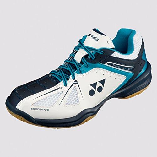 Yonex Badminton Shoes (Yonex SHB-35-WHITE/SKYBLUE-Size 11)