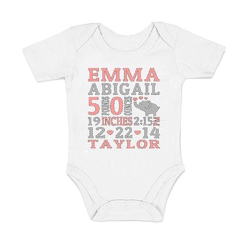 Amazon Com Baby Stats Onesie Birth Announcement Onesie Birth