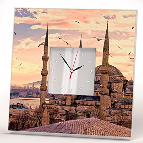 - Istanbul Sultan Ahmed Blue Mosque Wall Clock Framed Mirror Turkey Printed Art Home Room Decor Gift