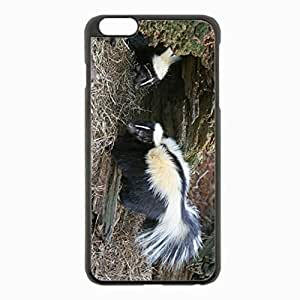 iPhone 6 Plus Black Hardshell Case 5.5inch - skunks tail grass hole Desin Images Protector Back Cover