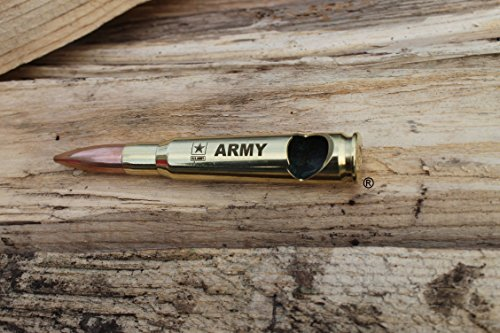 US Army-50 Caliber® Brass Military Bullet Bottle Opener wit