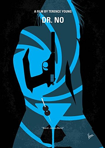 Wall Art Print entitled No024 My Dr No James Bond Minimal Movie Poster by Chungkong Art | 11 x 15