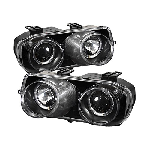 Acura Integra Headlight (Spyder Auto Acura Integra Black Halogen Projector Headlight)