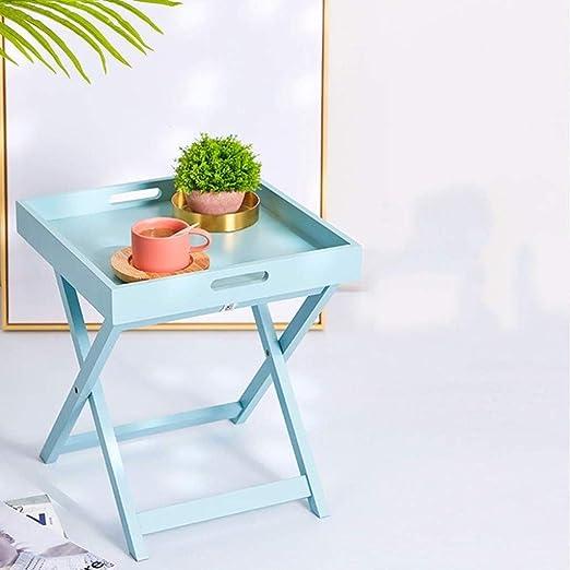 Amazon.com: Mesa auxiliar plegable BJLWTQ, mesa de café ...
