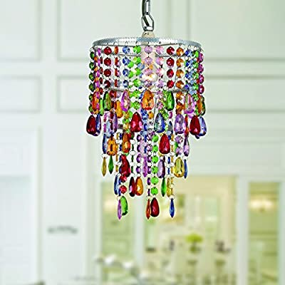 Warehouse of Tiffany Eglantyne 1-light Acrylic/Metal Rainbow 35-inch Chandelier