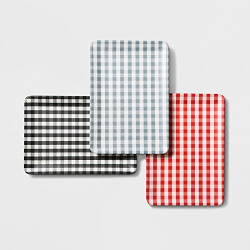 Hearth & Hand with Magnolia Gingham Check Rectangular Serving Trays, Set of -